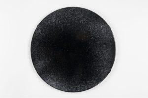 Piatto in  pietra lavica ceramizzata nero